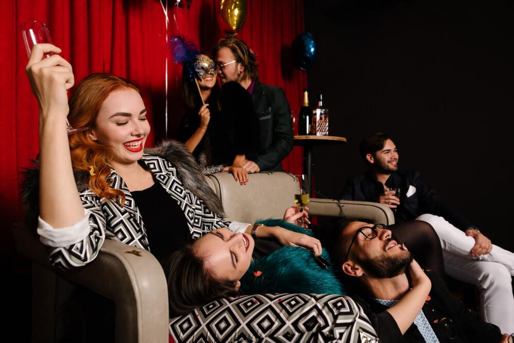 young singles having fun at party