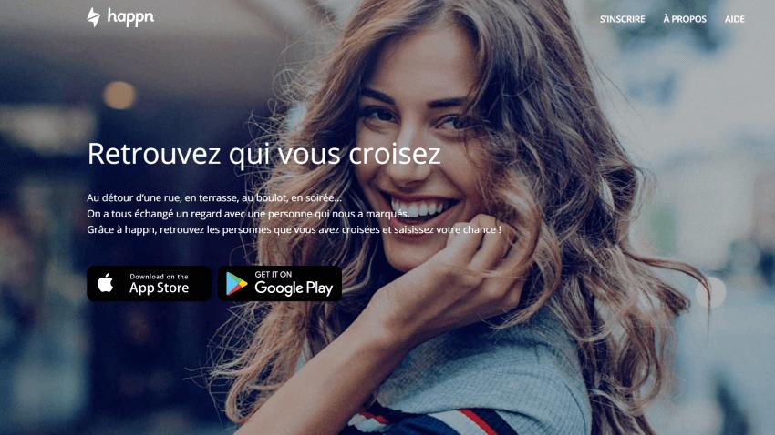 happn france landing page