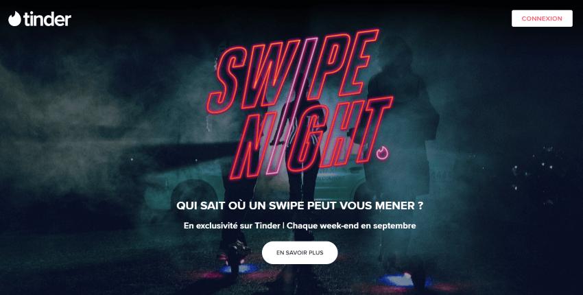 Tinder France Swipe Night